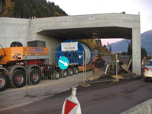 Seiltransport Überführung L5 Baldramsdorfer Straße